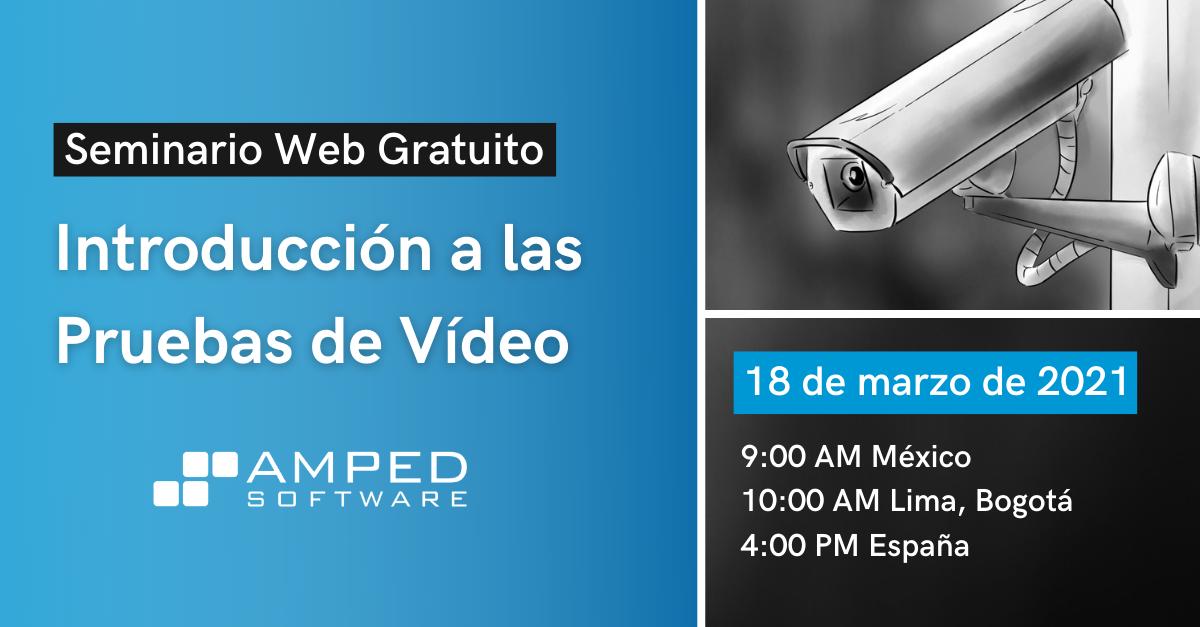 Introducción a las Pruebas de Vídeo con AMPED