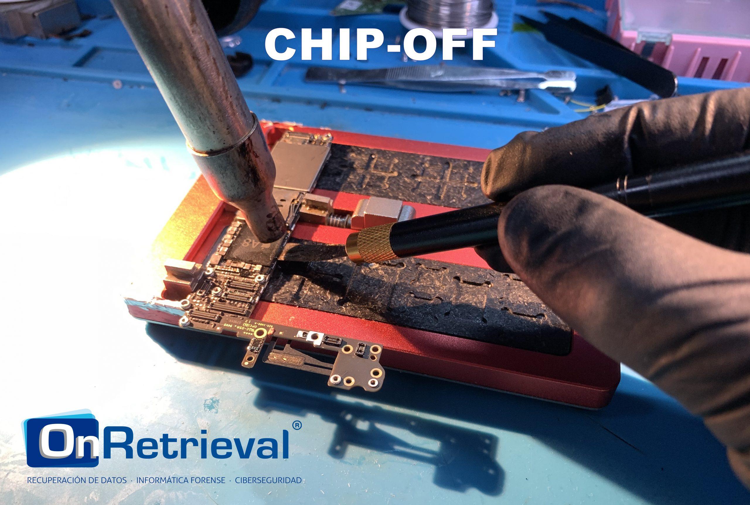 Técnica Chip-off para recuperación de datos.