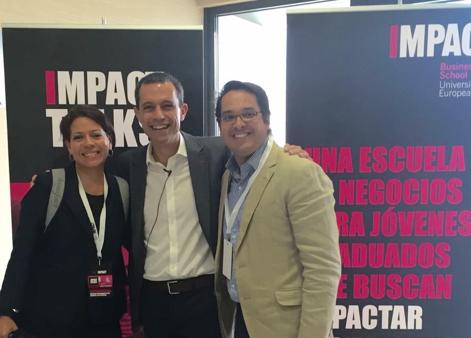 Con Chema Palomares, VP de Comunicación Corporativa de la Universidad Europea y anfitrión del evento