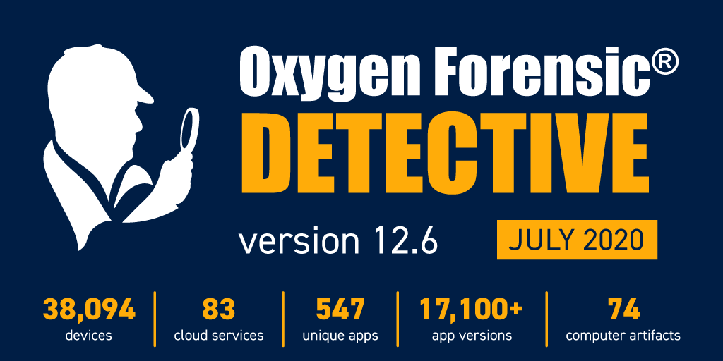 Ya disponible: Oxygen Forensic Detective 12.6